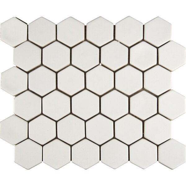 Hexagon Ceramic Mosaic Tile in Whisper White by MSI