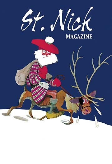 Skinny Scottish Santa Rides on Reindeer Graphic Ar