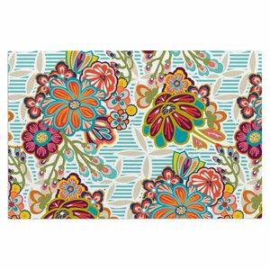 Agnes Schugardt Kimono Floral Floral Doormat