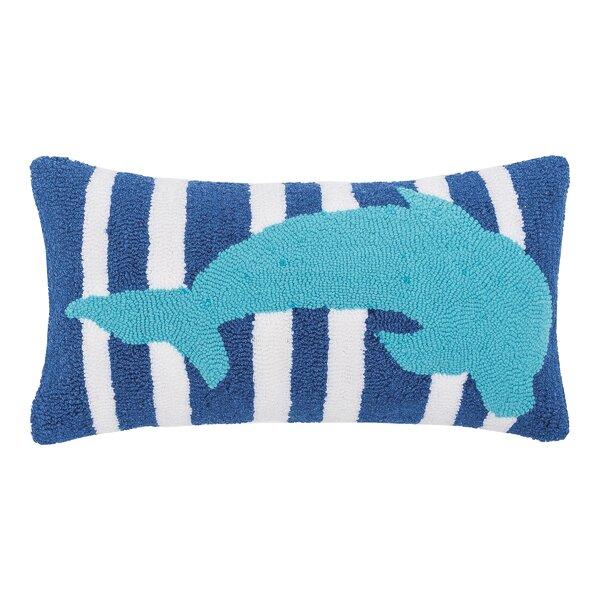 Desmarais Striped Dolphin Throw Pillow by Breakwater Bay