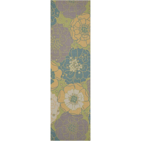 Charlton Home Wright Teal Blue Yellow Indoor Outdoor Area