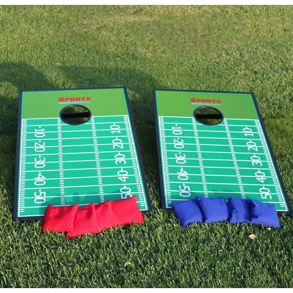 Football Court Toss Game Cornhole Set by Festival