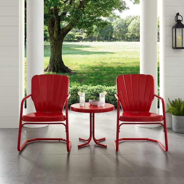 Lorenzo Outdoor Conversation 3 Piece Seating Group by Breakwater Bay