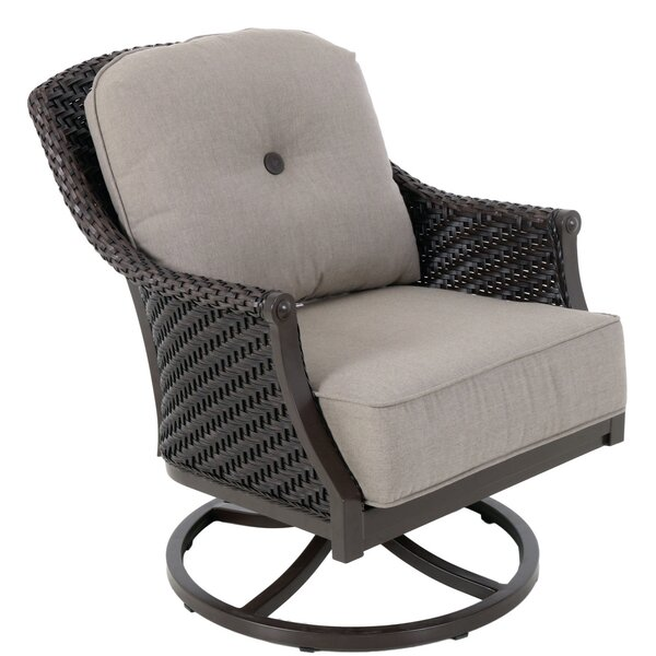 Kanzler Aluminum Outdoor Wicker Swivel Lounge Patio Chair by Red Barrel Studio