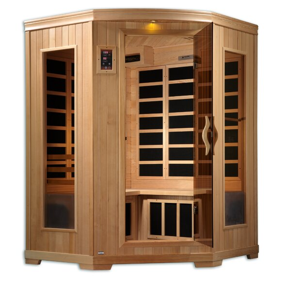 Corner Carbon 3 Person FAR Infrared Sauna by QCA Spas
