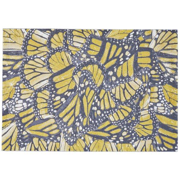 Jolana Abstract Yellow/Blue/Beige Area Rug