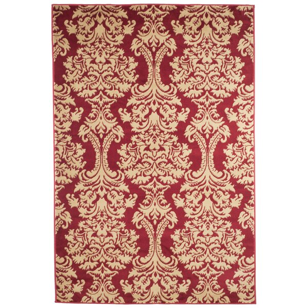 Oriental Red and Gold Area Rug by Lavish Home