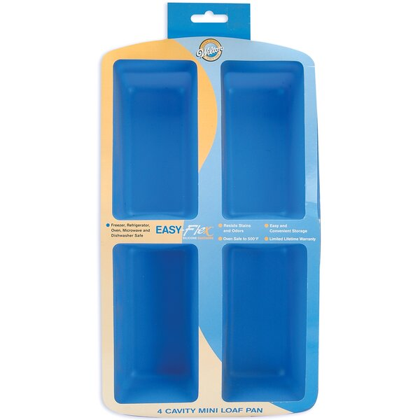 4 Cavity Silicon Baking Pan by Wilton
