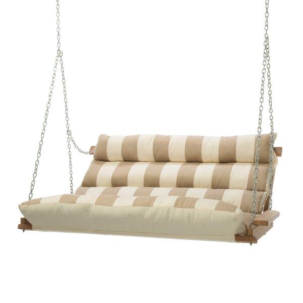 Montgomery Regency Sand Deluxe Cushion Sunbrella Porch Swing by Rosecliff Heights Rosecliff Heights