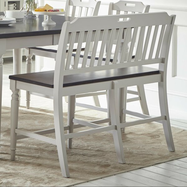 Tiffany Counter Height Wood Bench by Longshore Tides