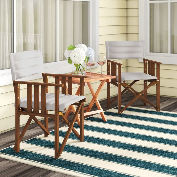 Foss Patio Dining Chair (Set of 2) by Beachcrest Home