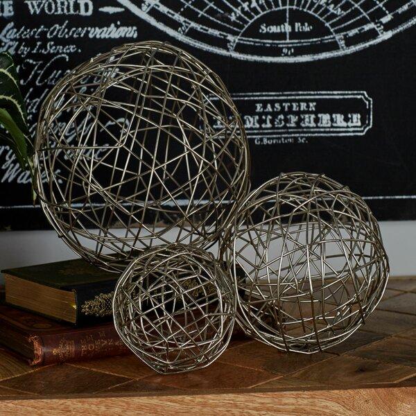 Metal Sphere 3 Piece Sculpture Set by Cole & Grey