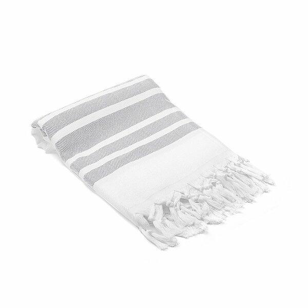 Ruthar Herringbone Turkish Cotton Beach Towel by Rosecliff Heights