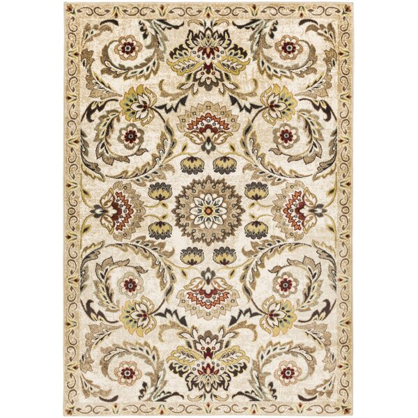 Dunnigan Beige Area Rug by Charlton Home