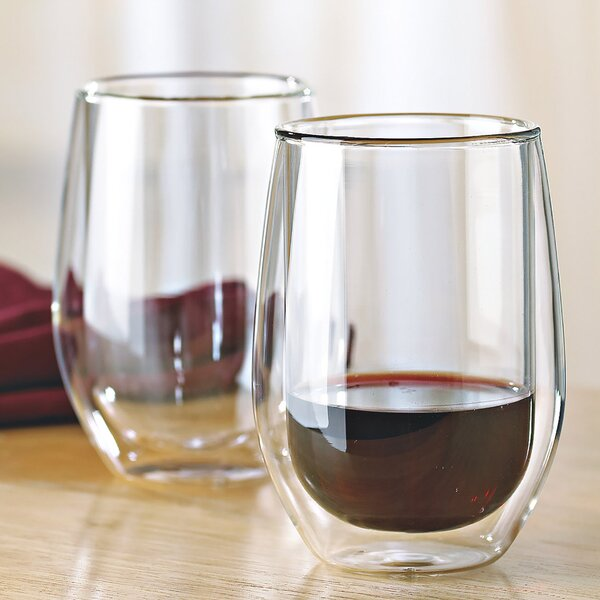 Steady-Temp Double Wall Cabernet Stemless Wine Glass (Set of 4) by Wine Enthusiast