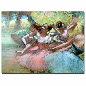 Four Ballerinas on the Stage by Edgar Degas Painting Print on Canvas by Trademark Fine Art