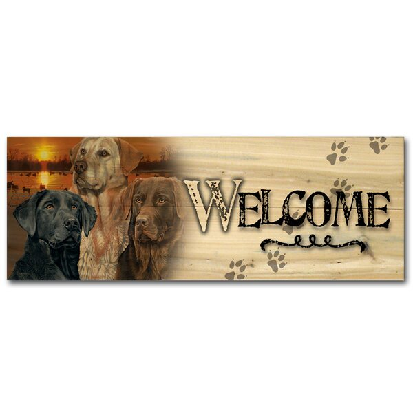 Welcome Lab Trio Graphic Art Plaque by WGI-GALLERY