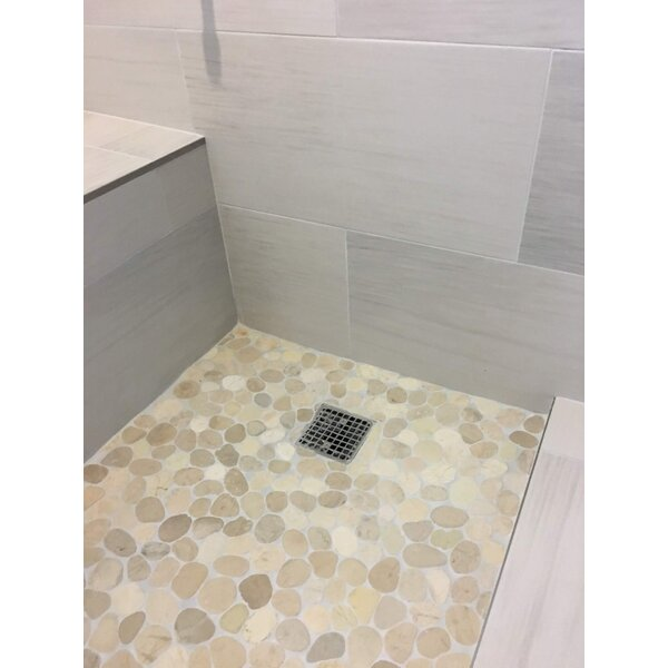 Random Sized Natural Stone Mosaic Tile in Tan/Beige