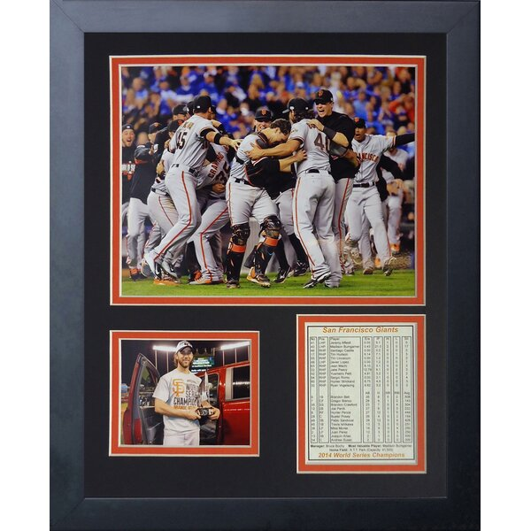 MLB San Francisco Giants 2014 World Series Champions Framed Memorabilia by Legends Never Die