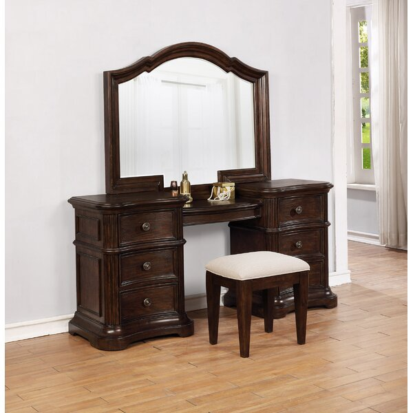 Darby Home Co Aminah Vanity Set With Mirror | Wayfair