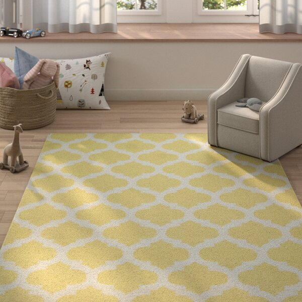 Hackbarth Gold Area Rug by Zoomie Kids