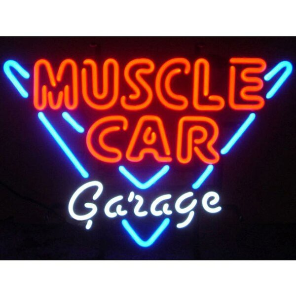 Muscle Car Garage Neon Sign by Neonetics