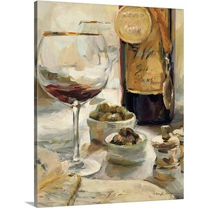 'Award Winning Wine I' by Marilyn Hageman Painting Print on Wrapped Canvas by Great Big Canvas