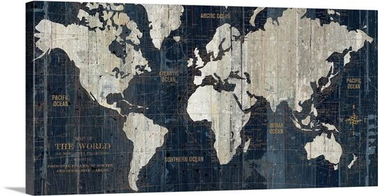 Old World Map Canvas.Great Big Canvas Old World Map Blue Graphic Art Print Reviews