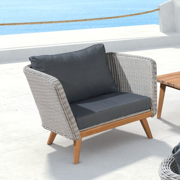 Des Moines Arm Chair with Cushion by Corrigan Studio