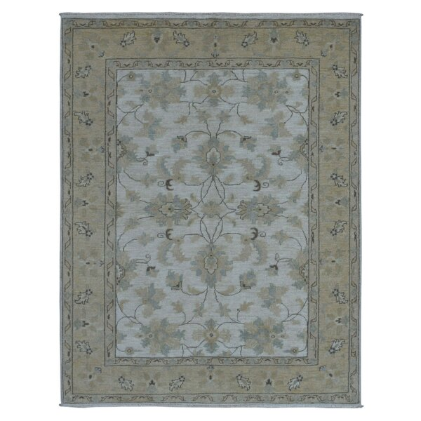 One-of-a-Kind Cranleigh Pakistan Peshawar Hand-Knotted Wool Ivory Area Rug by Isabelline