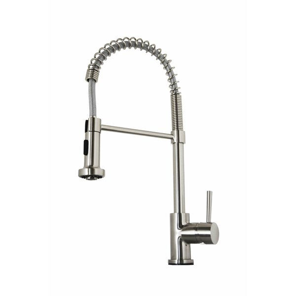 Triton Pull Down Single Handle Kitchen Faucet by Virtu USA