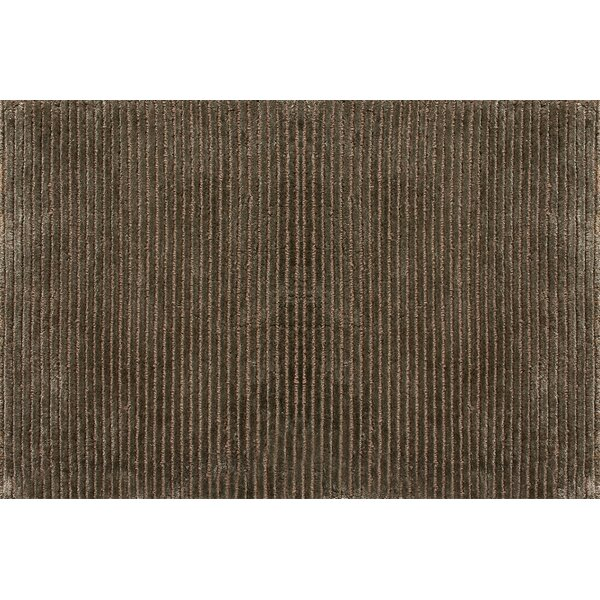 Turek Hand-Knotted Brown Area Rug by Millwood Pines