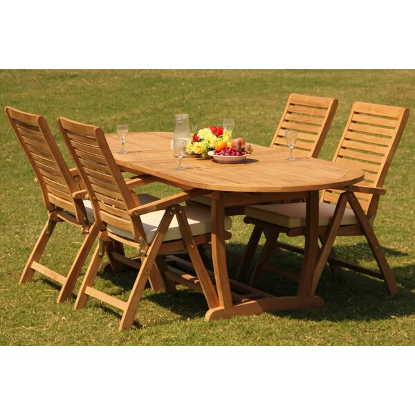Korey 5 Piece Teak Dining Set by Rosecliff Heights