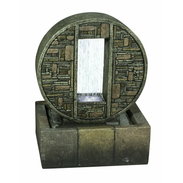 Resin Rainfall in Brick Design Medallion with Light by Hi-Line Gift Ltd.