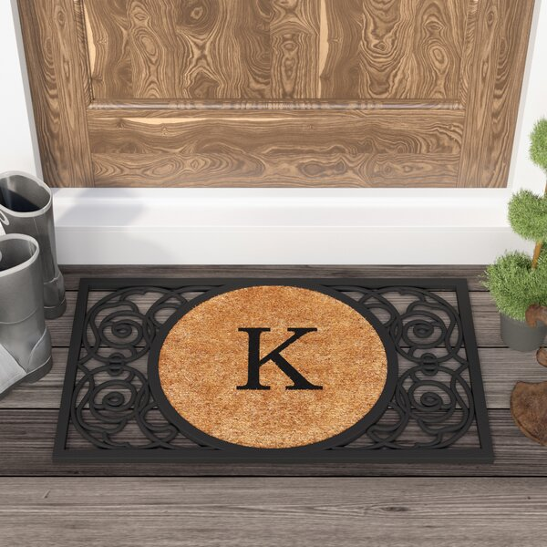 Francesca Circle Monogram Doormat by Fleur De Lis