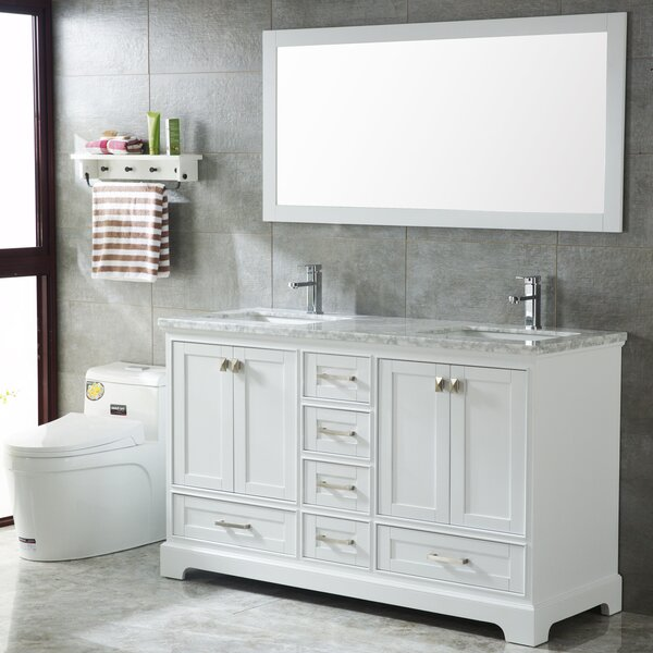 Crewkerne 60 Double Sinks Modern Bathroom Vanity Set by Highland Dunes