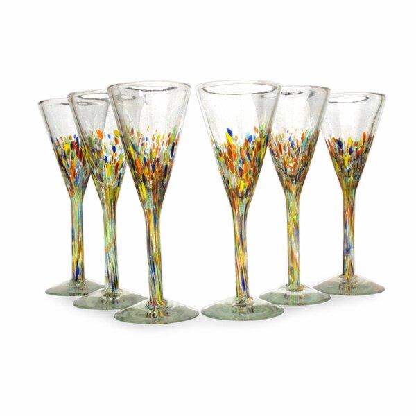 5 Oz. Champagne Flute (Set of 6) by Novica