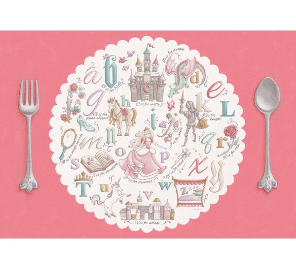 Once Upon a Time - Alphabet by Sarah Lowe Vinyl Placemat by Oopsy Daisy