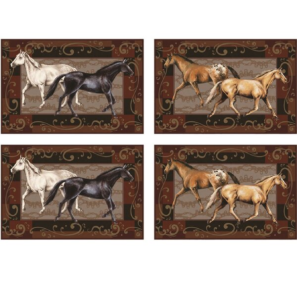 Horse Placemat (Set of 4) by River's Edge Products