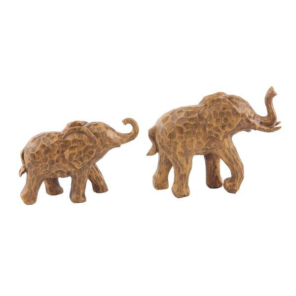 Hein Elephant Resin 2 Piece Figurine Set by World Menagerie