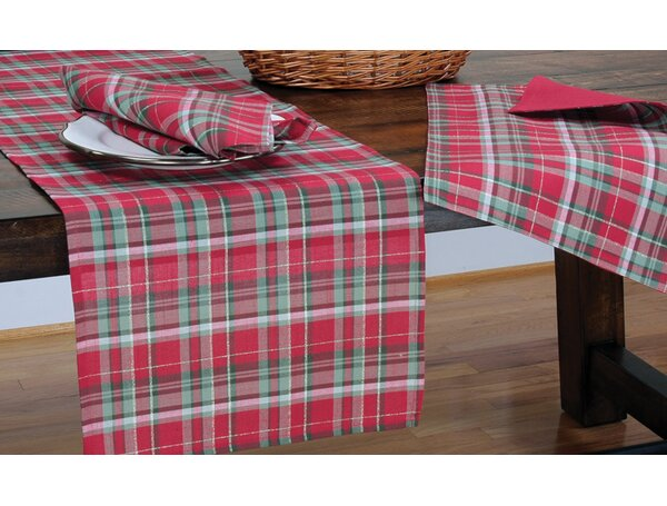 Holiday Tartan Christmas Round Tablecloth by The Holiday Aisle