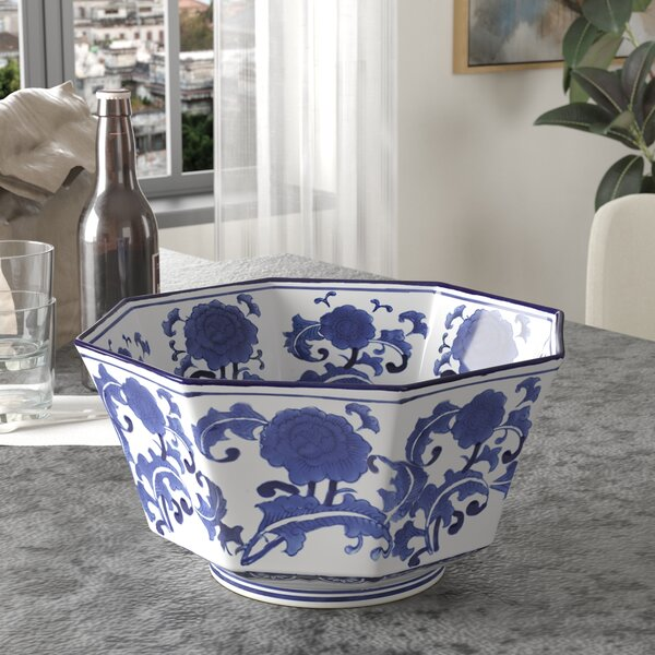 Anson Ceramic Salad Bowl by Three Posts
