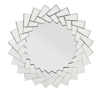Orren Ellis Leonce Glam Sunburst Accent Mirror
