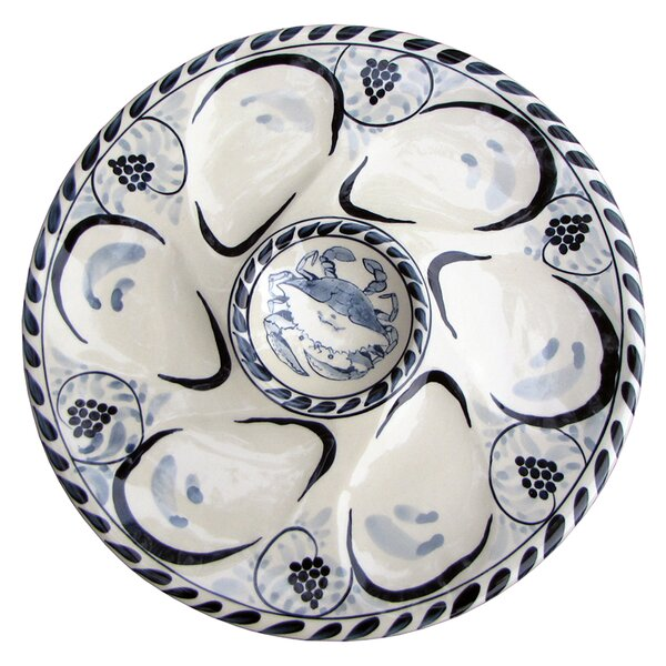 Luna Oyster Platter (Set of 2) by Rosecliff Heights