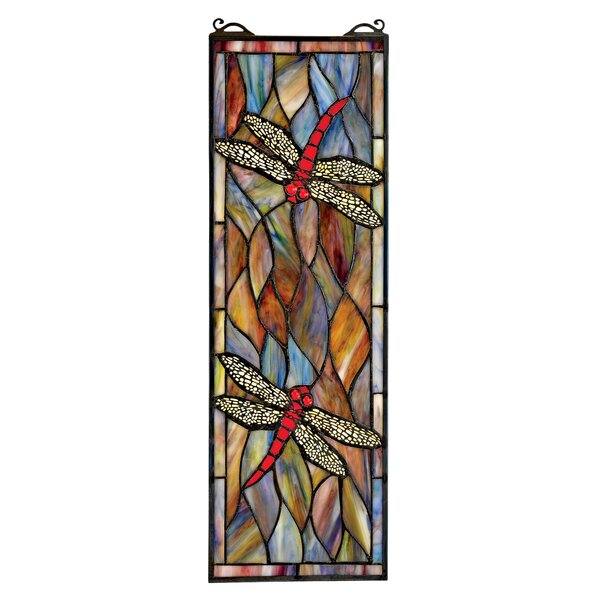 Tiffany Dragonfly Stained Glass Window by Design Toscano