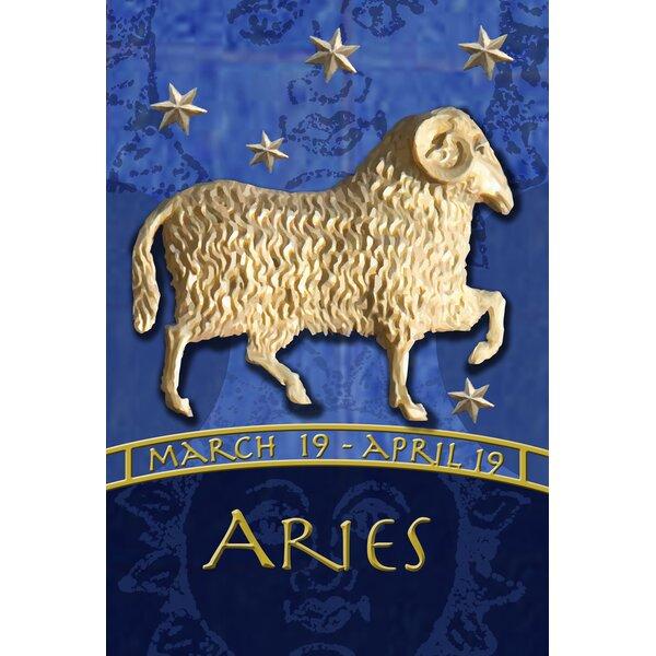 Zodiac-Aries Garden flag by Toland Home Garden