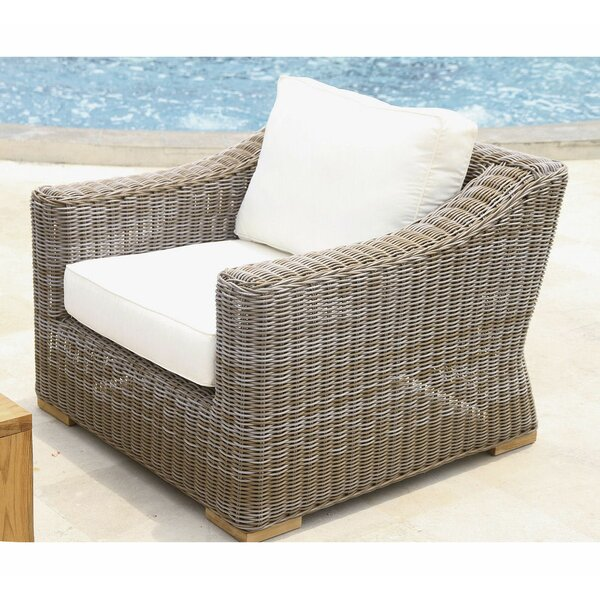Brianna Deep Seating Club Chair W/White Cushion by Rosecliff Heights