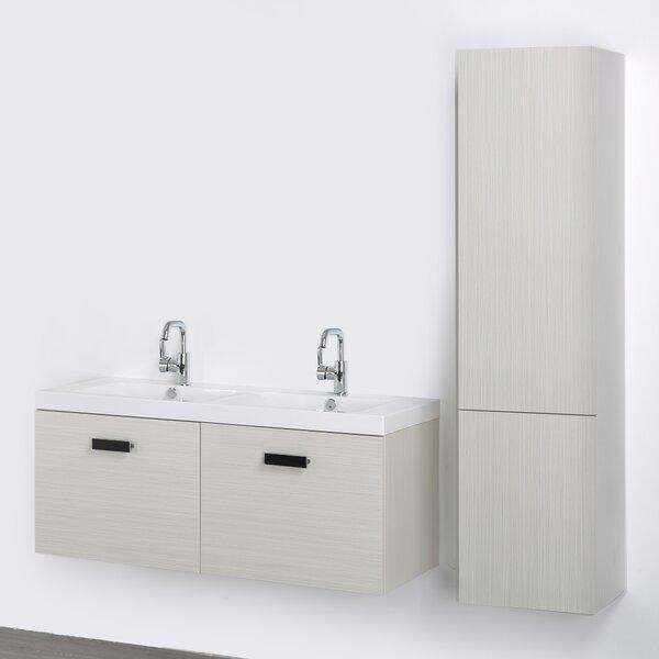47 Wall-Mounted Double Bathroom Vanity Set by Streamline Bath