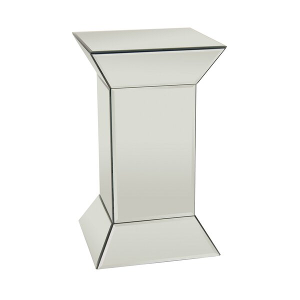 Delacruz Glass Mirrored End Table by Mercer41