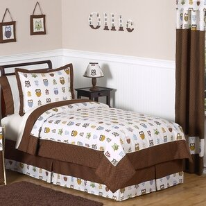 Night Owl 3 Piece Comforter Set by Sweet Jojo Designs